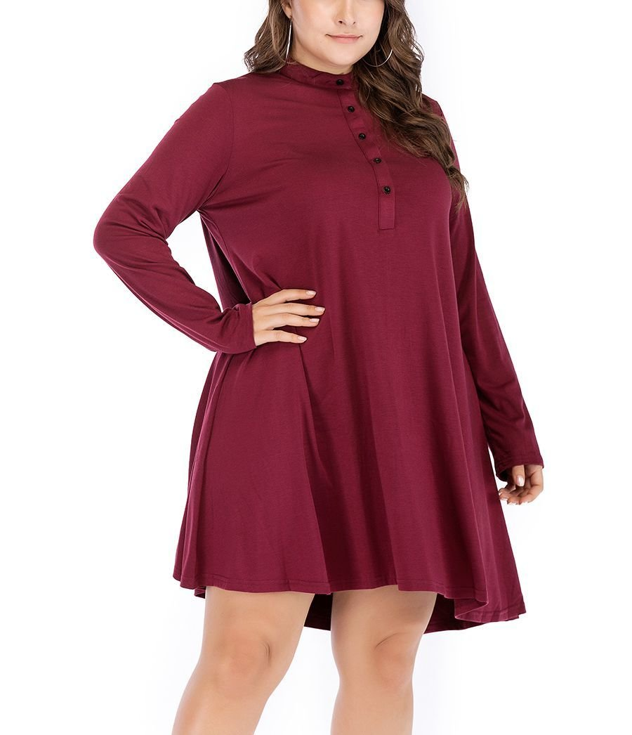 A-Line Knit Dress for Work