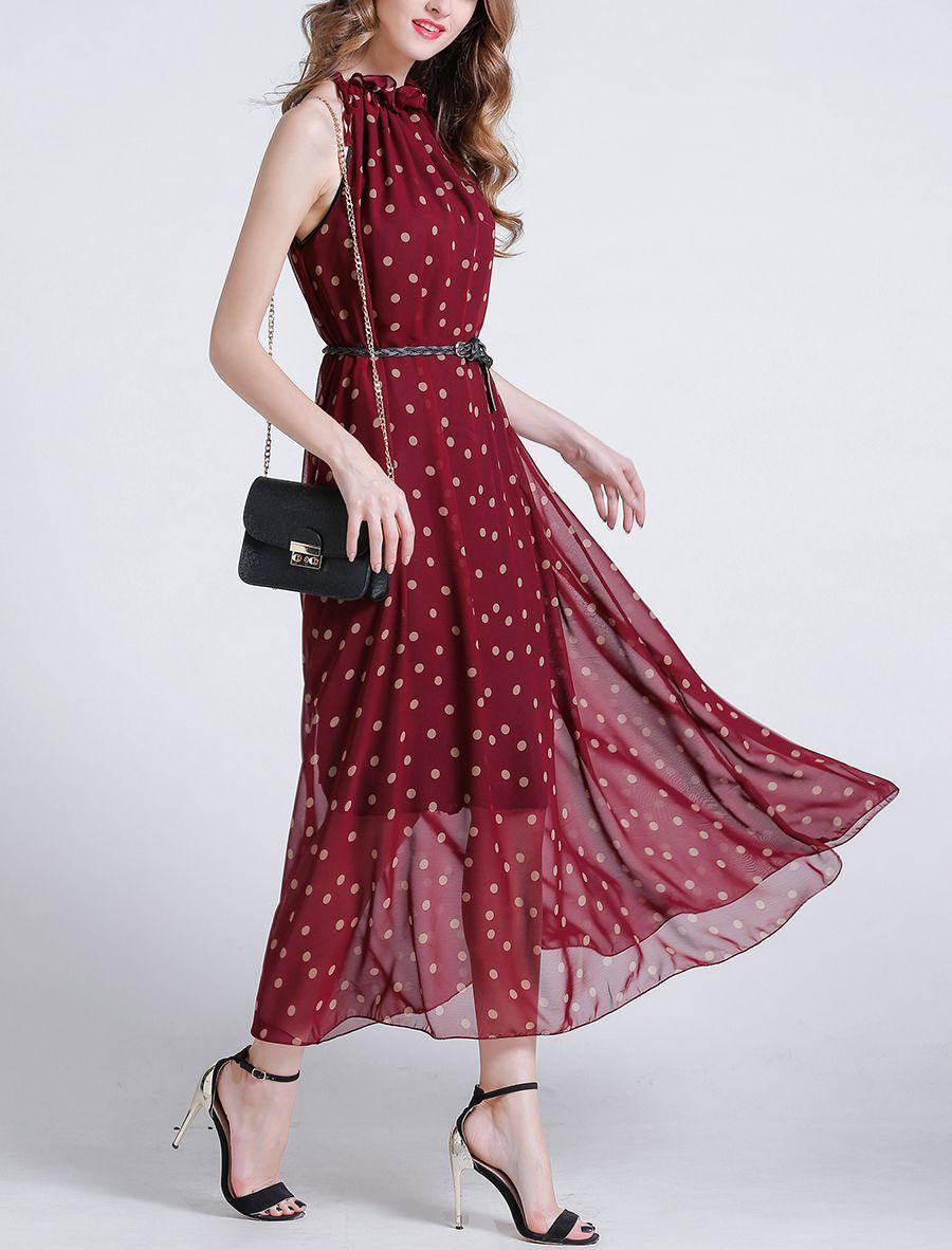 Chiffon Cocktail Dress with Gathered Neckline