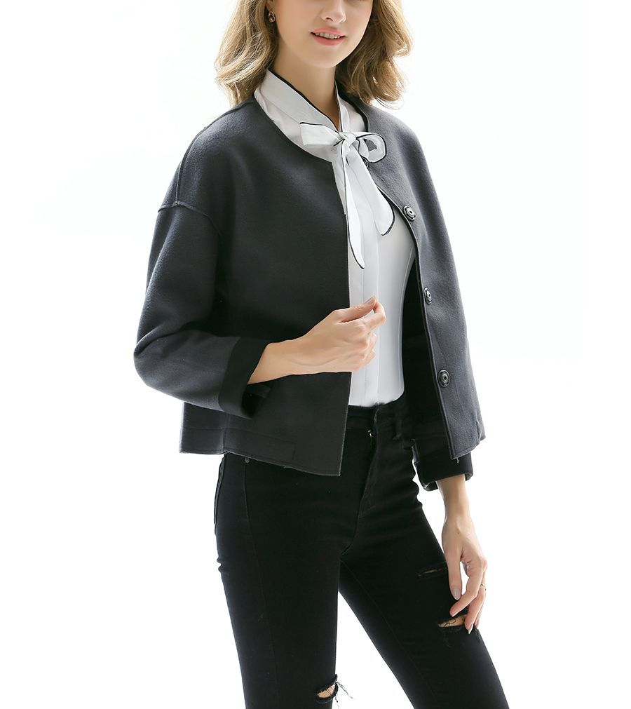 Short Jacket with Tailored Details