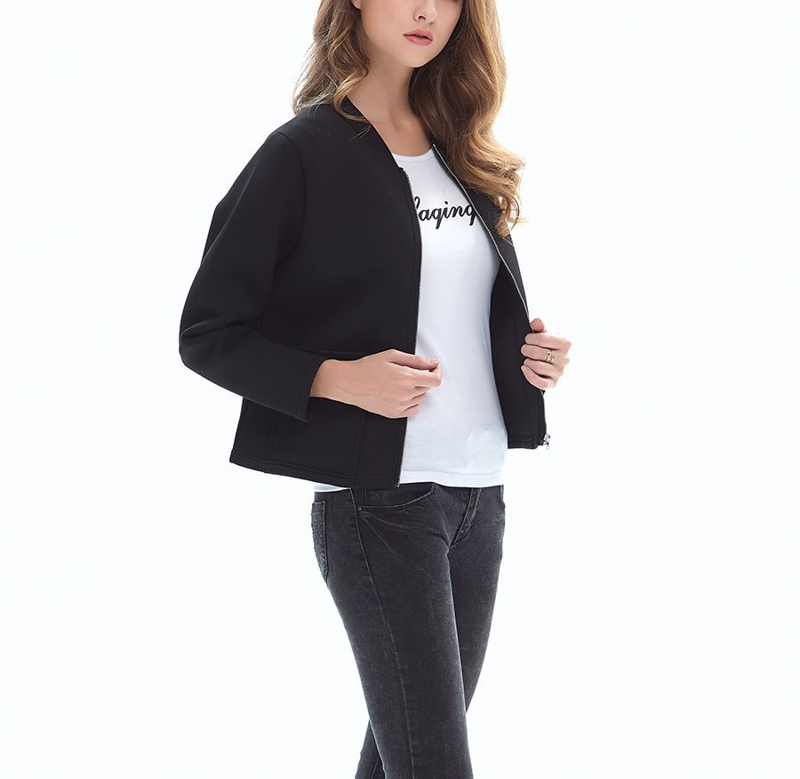 Zip Front Knit Top or Jacket with Patch Pockets