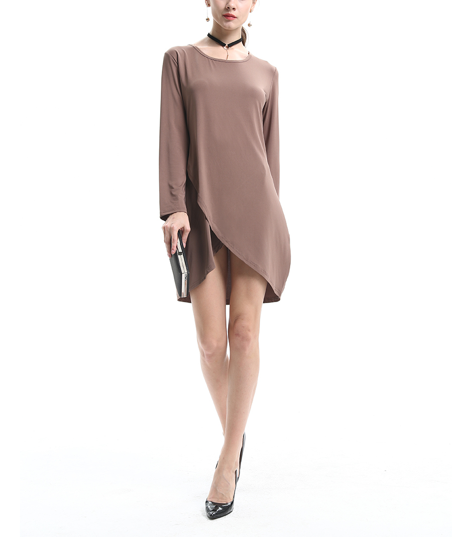 Knit Club Dress with Wrapped Front