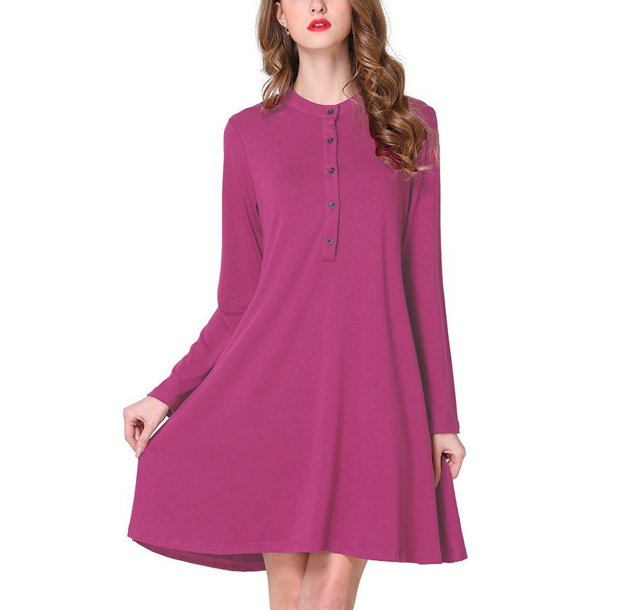 Plus Size Work Dress with Flared Silhouette
