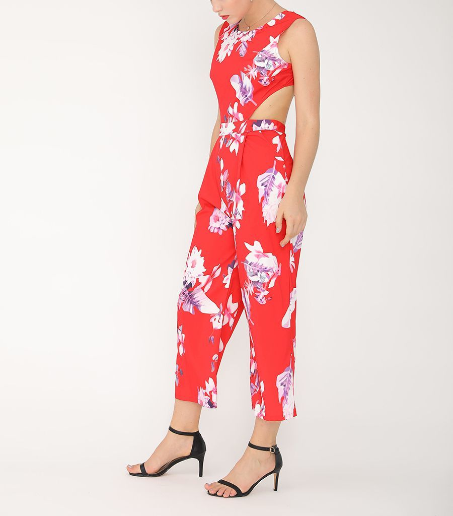Jumpsuit with Cropped Legs and Tied Back