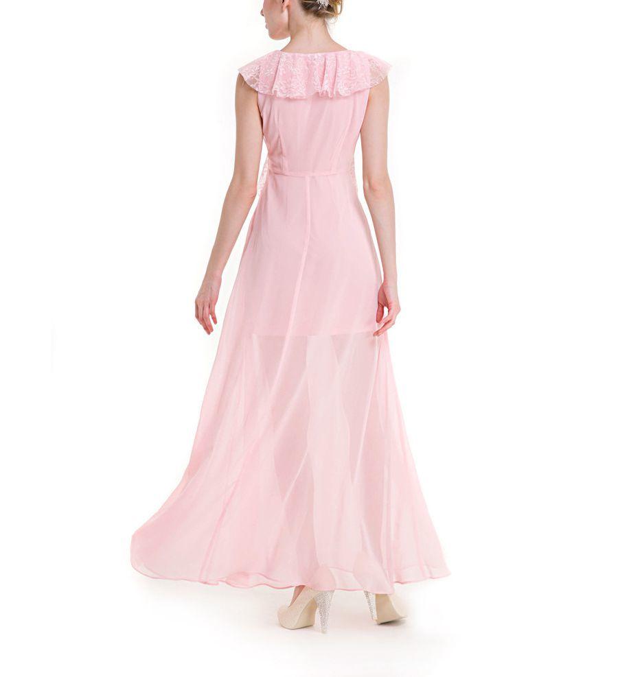 Chiffon Formal Dress with Lace