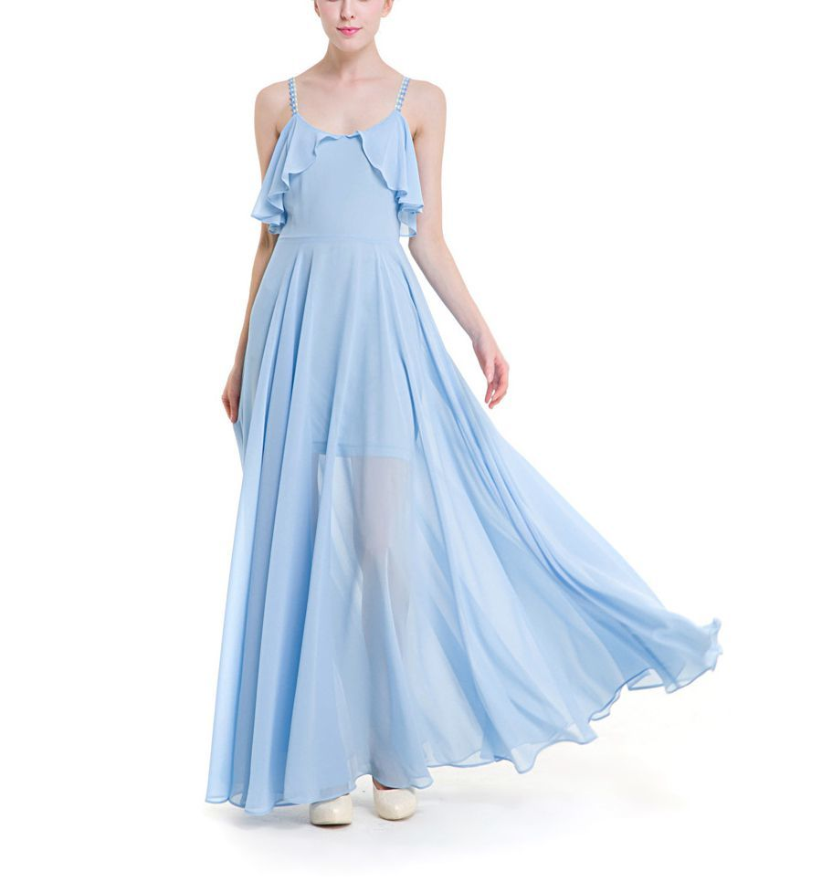 Floor Length Chiffon Cocktail Dress
