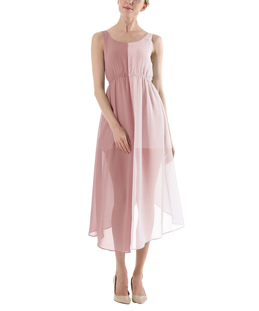 Chiffon Casual Dress with Reversible Front and Back
