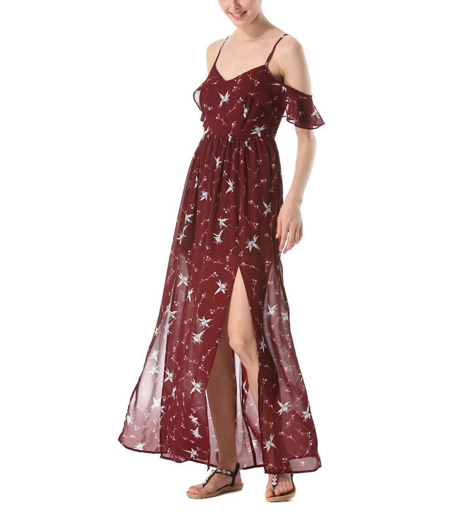 Off Shoulder Chiffon Cocktail Dress