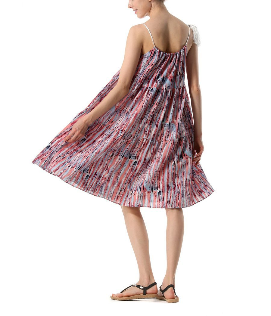 Casual Dress with Ruffled Tiers