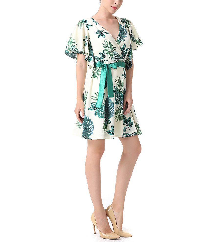 Short Cocktail Dress with Wrapped Styling