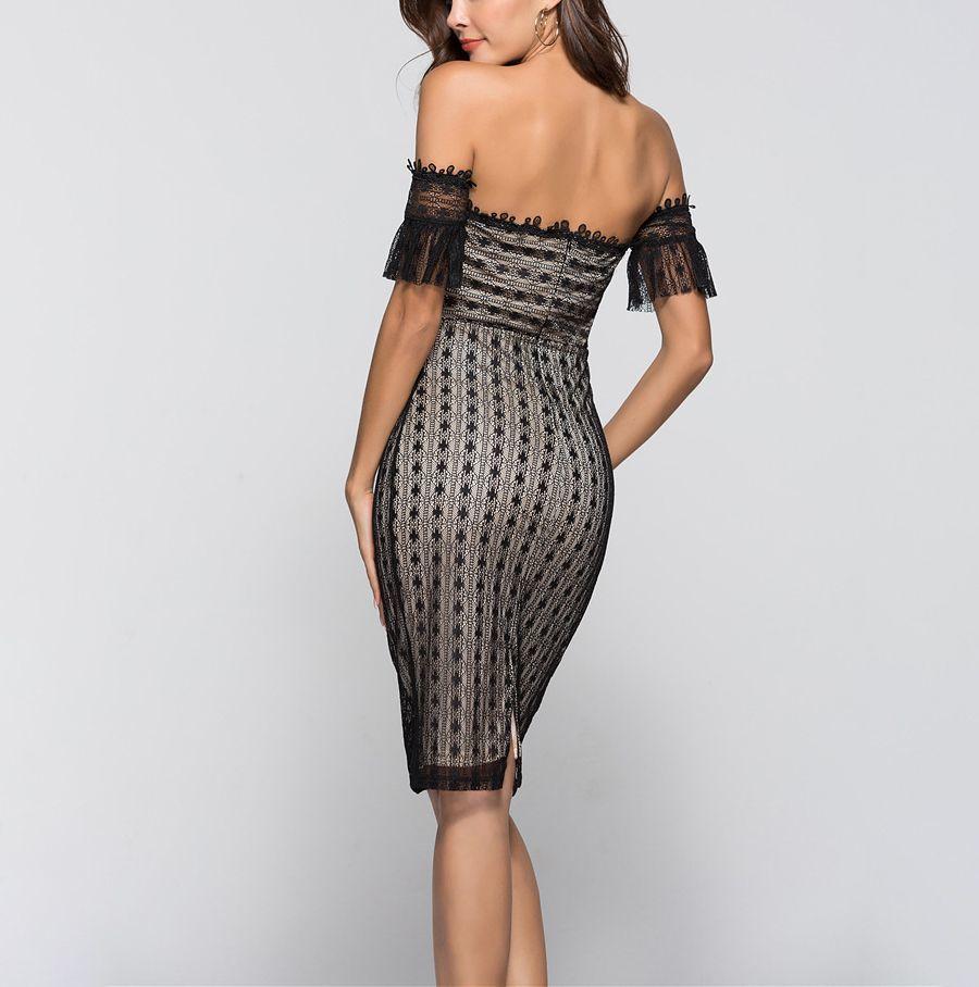 Lace Sheath Cocktail Dress