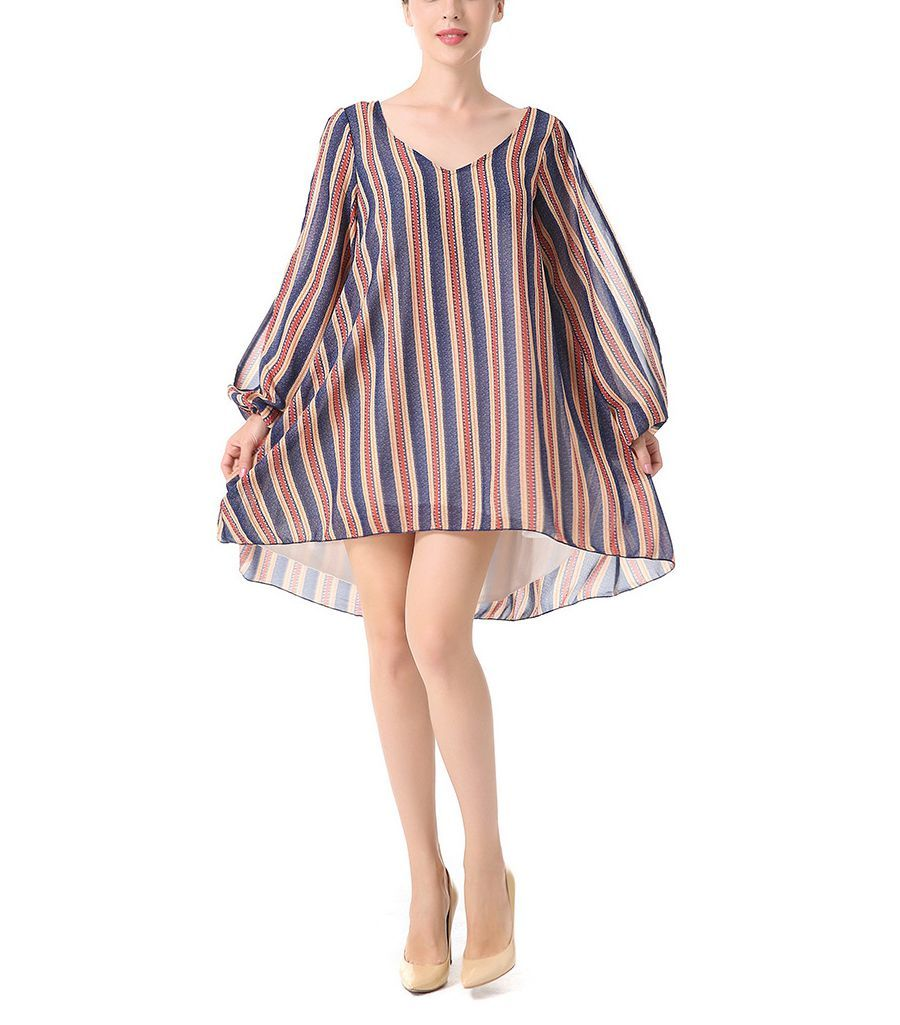 Chiffon Casual Dress with Long Sleeves