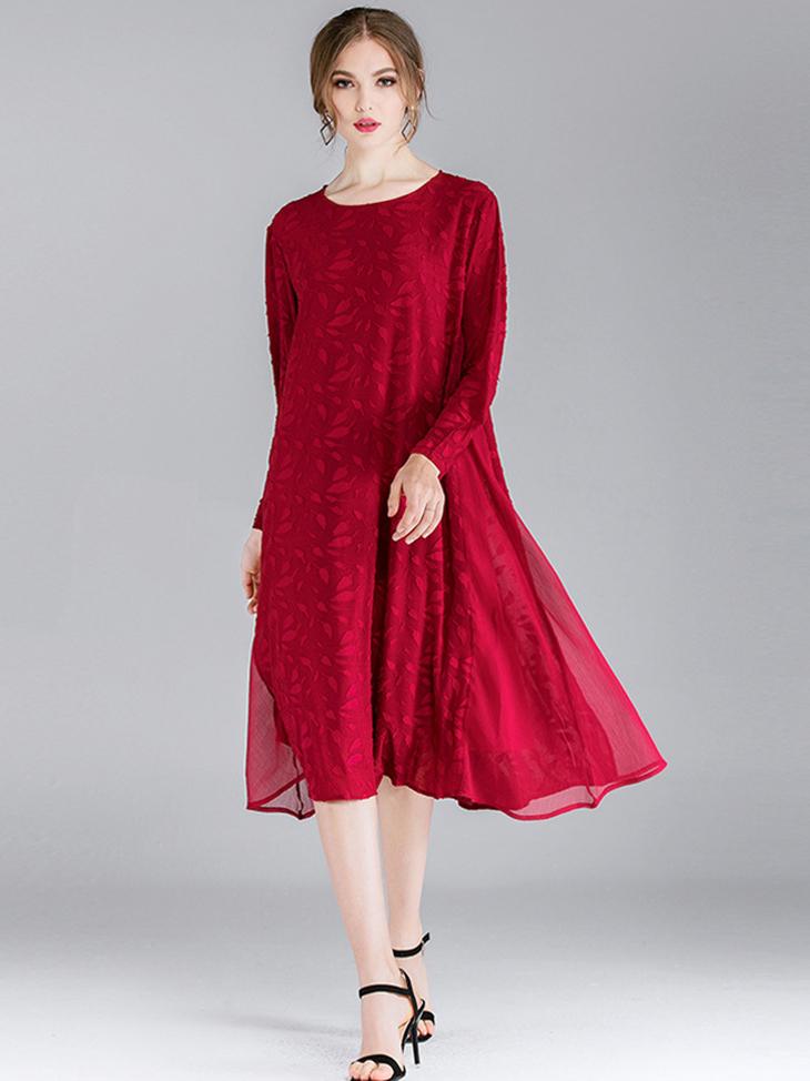 Silk Crinkle Cocktail Dress