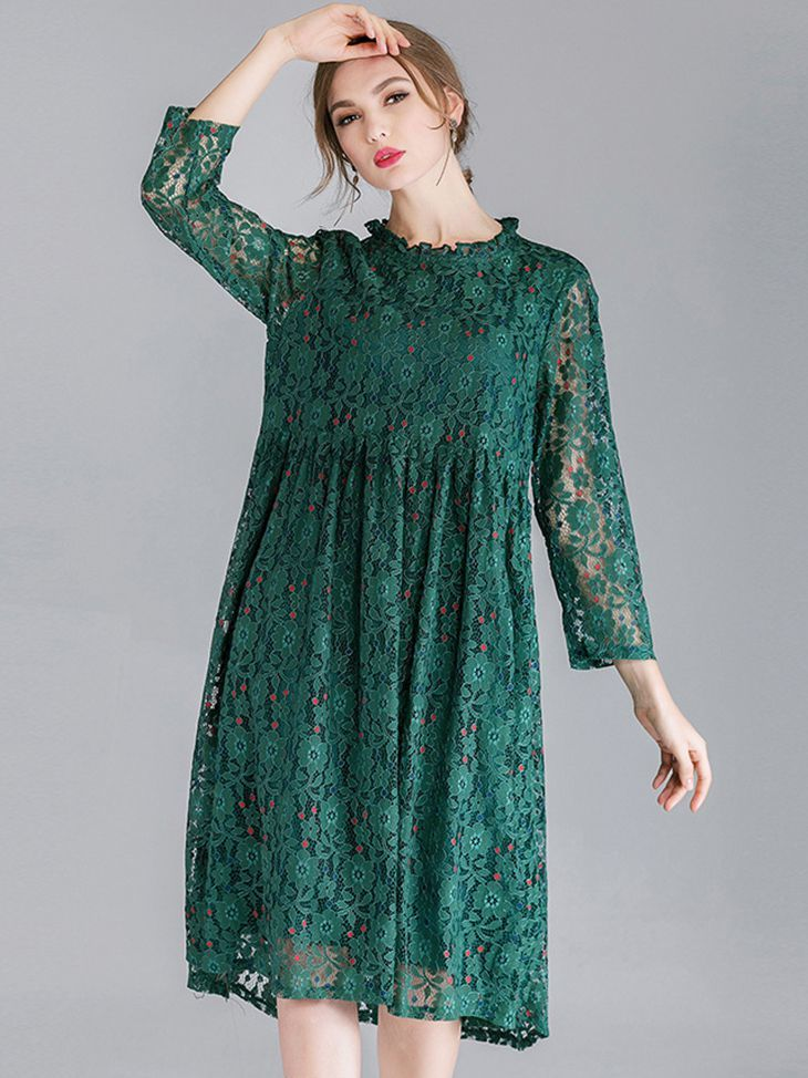 Tea Length Lace Cocktail Dress