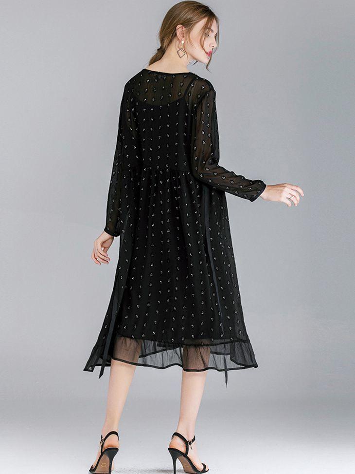 Tea Length Chiffon Formal Dress
