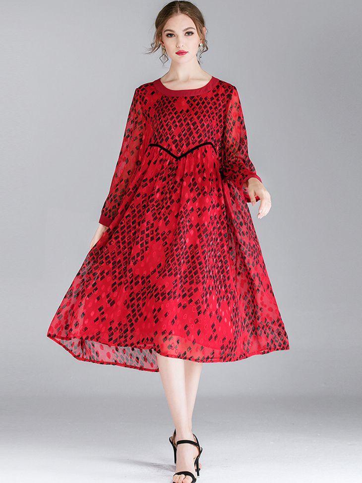Tea-Length Formal Dress with Shaped Waist