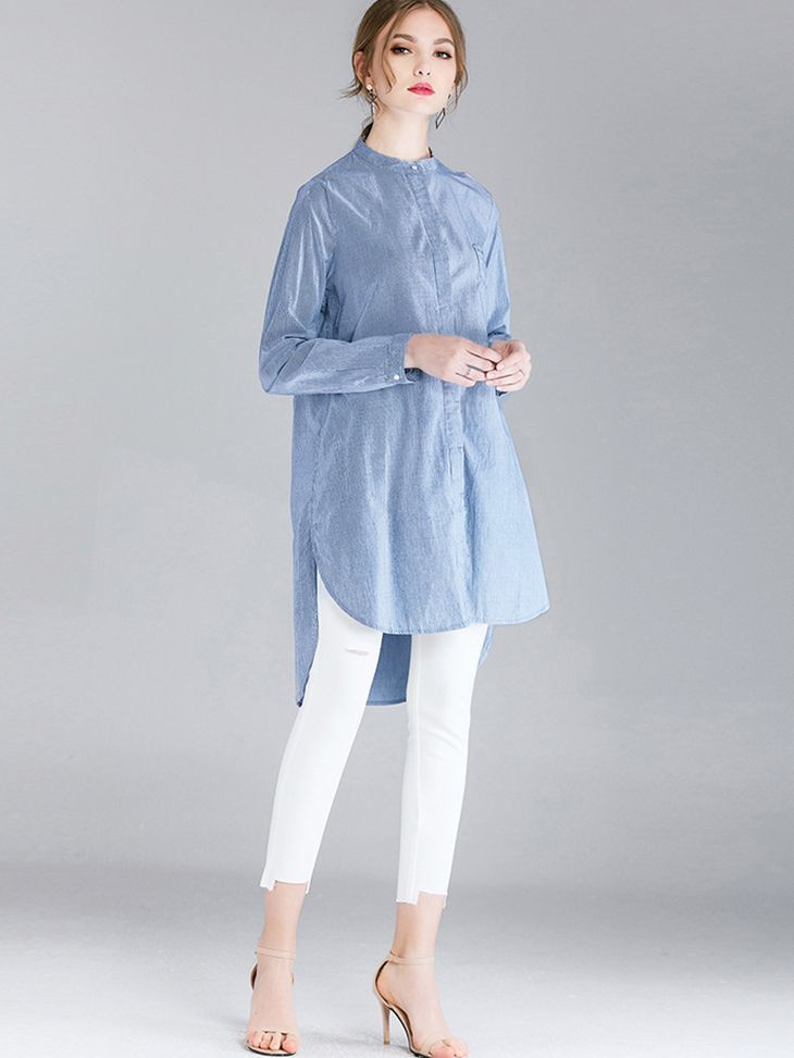 Shirt Style Tunic Top