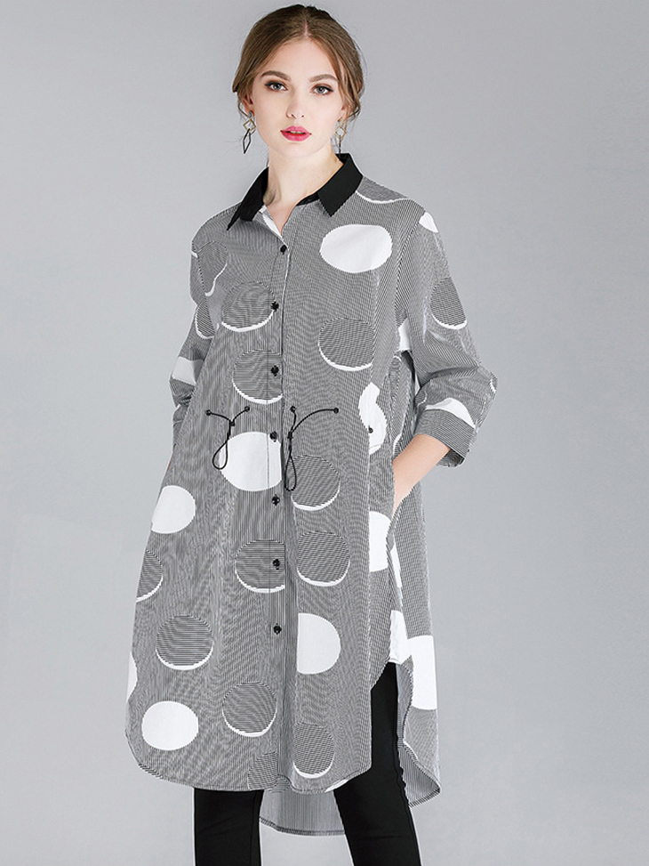 Cotton Print Casual Dress