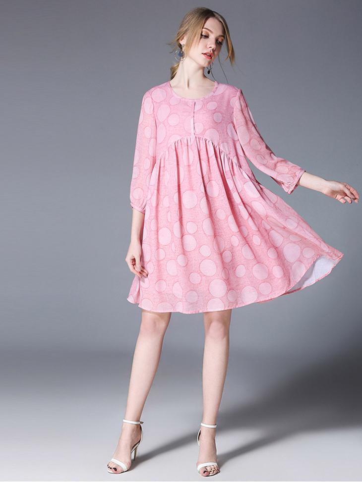 Casual Dress in Chiffon
