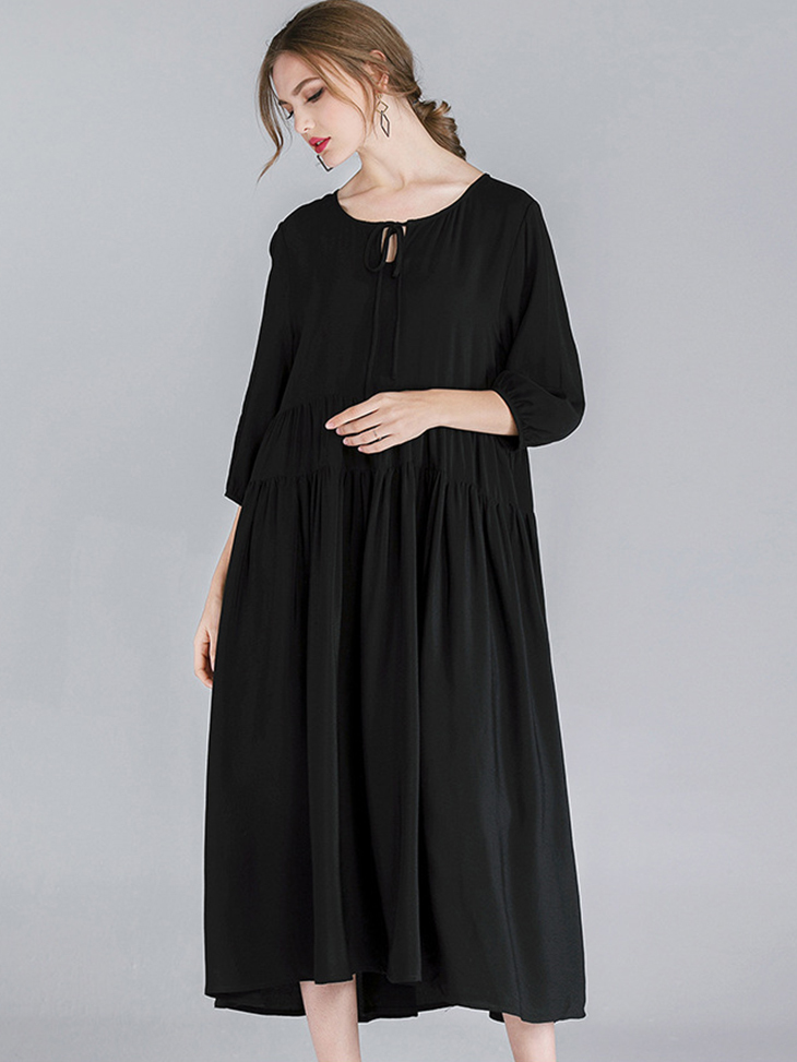 Rayon Casual Dress in Plus Sizes