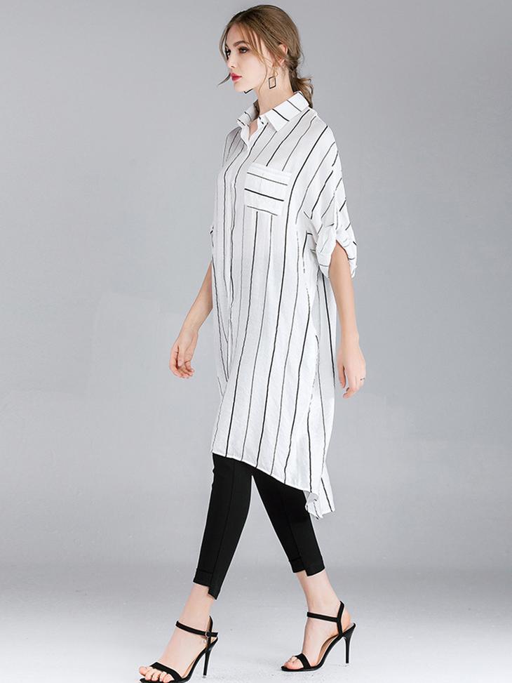Shirt Style Long Top