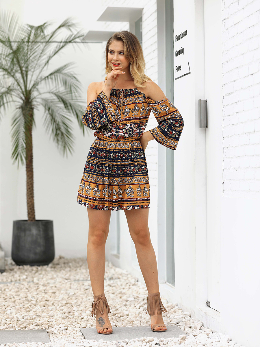Boho Jumpsuit with Long Sleeves