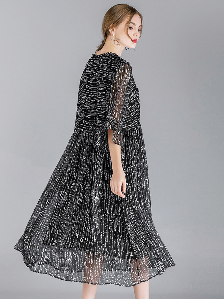 Tea Length Chiffon Cocktail Dress