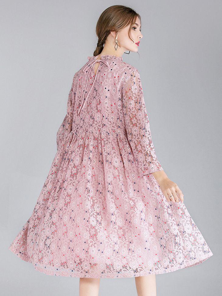 Tea Length Lace Cocktail Dress