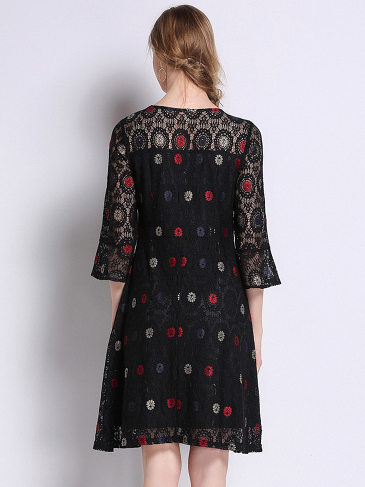 Fitted Lace Dress  for Work