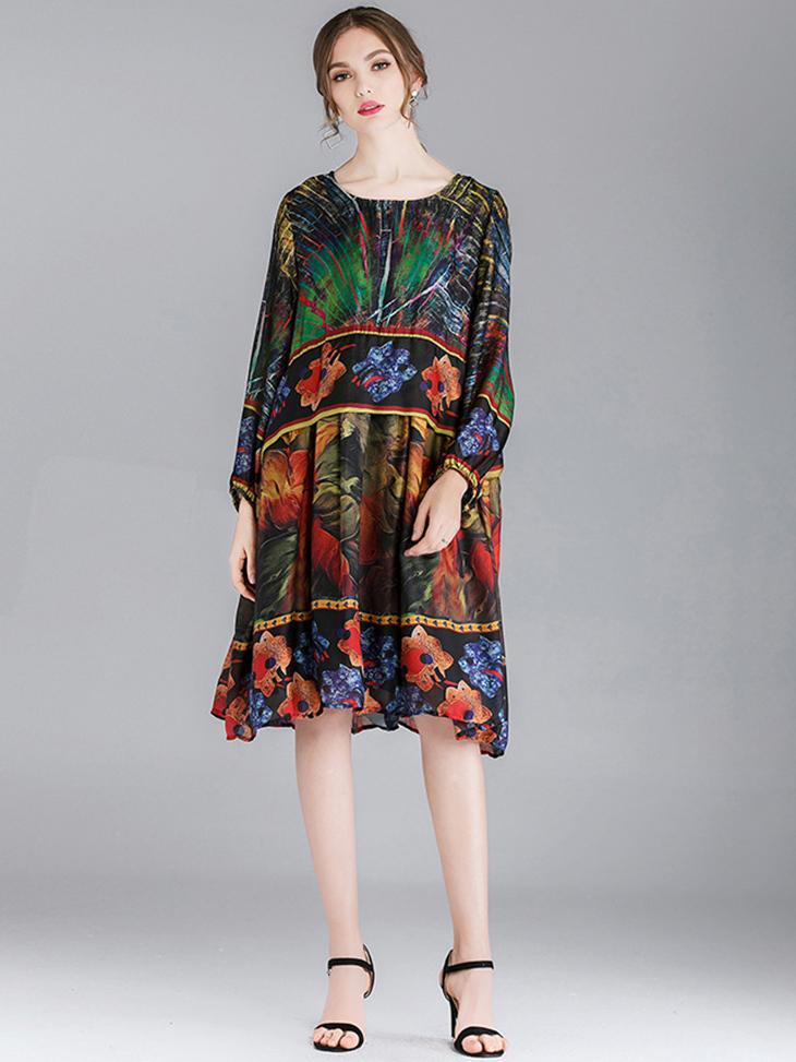 Pullover Chiffon Cocktail Dress