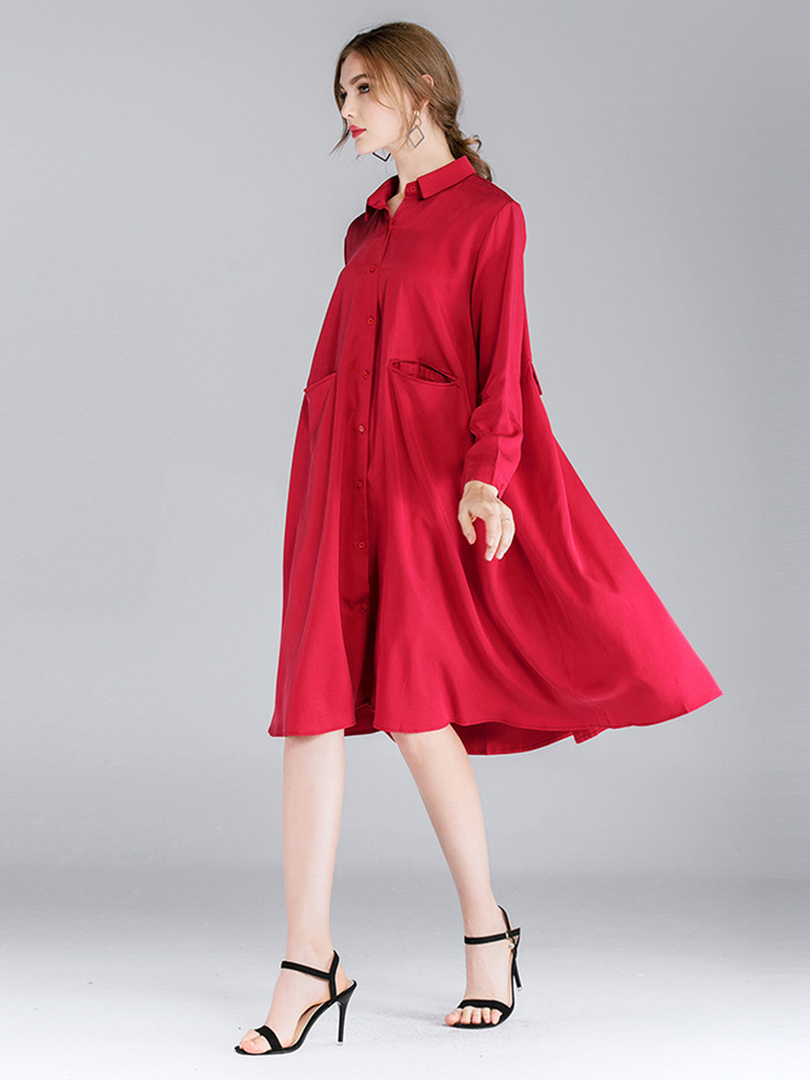 Rayon Blend Work Dress