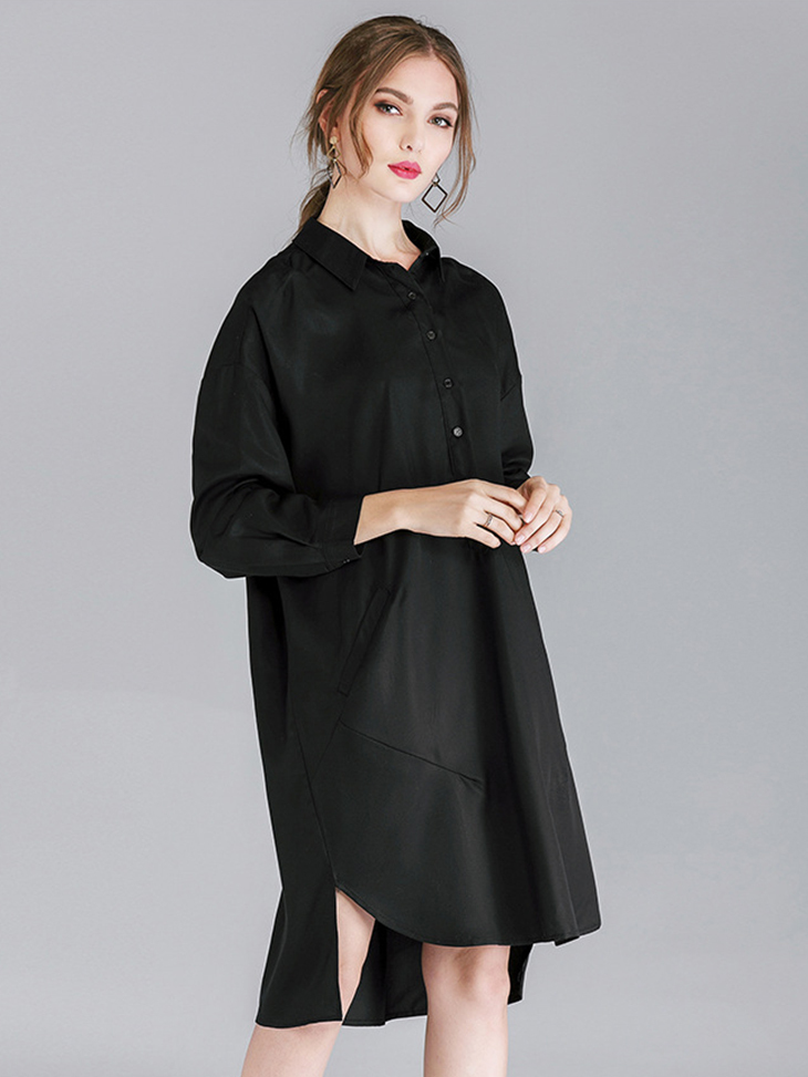 Rayon Blend Casual Dress