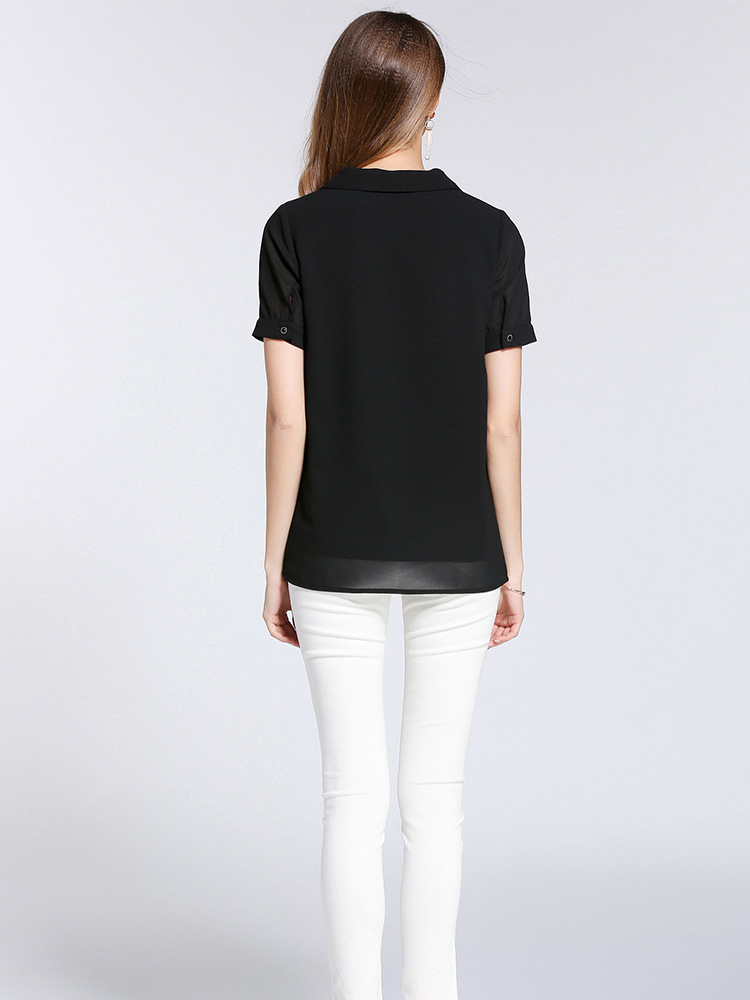 Chiffon Top with Lining and Collar