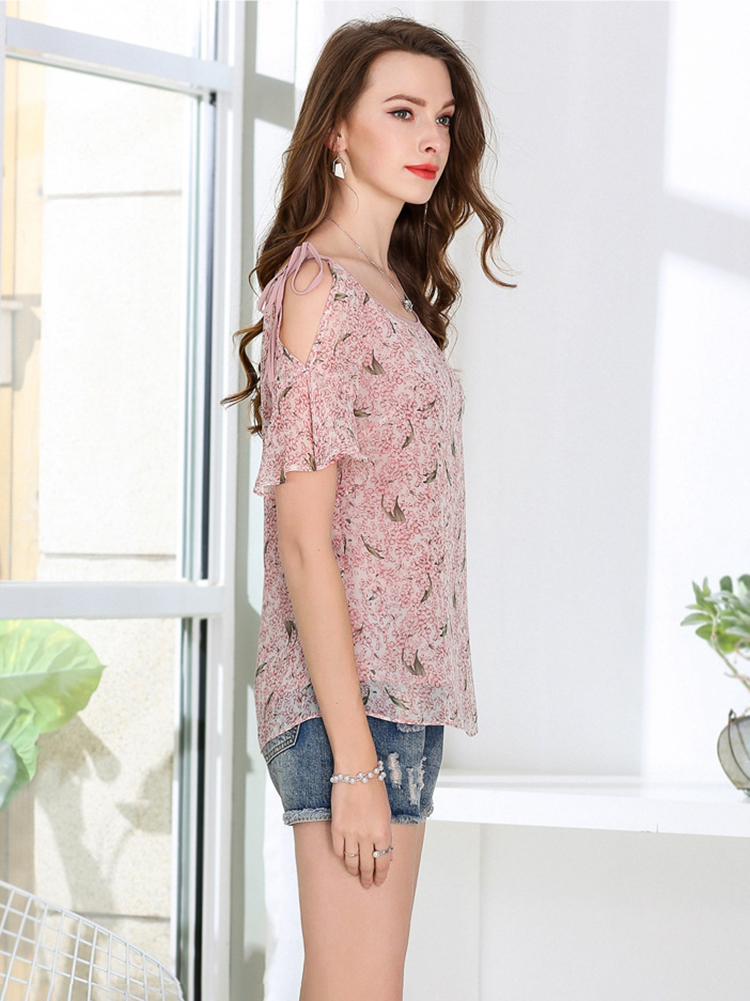 Chiffon Top with Shoulder Ties