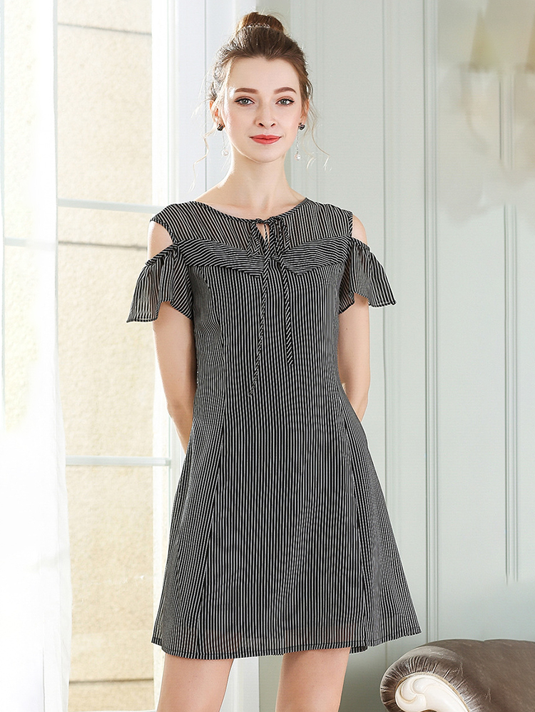 Princess-Seamed Casual Dress in Chiffon