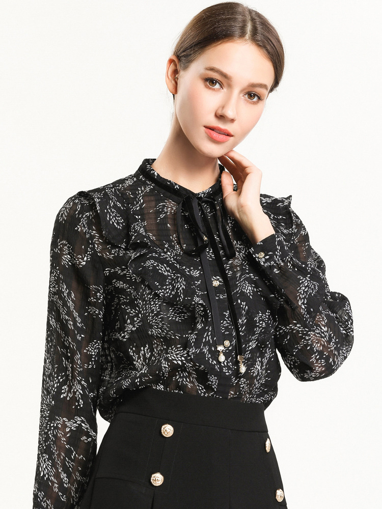 Chiffon Top with Classic Blouse Styling