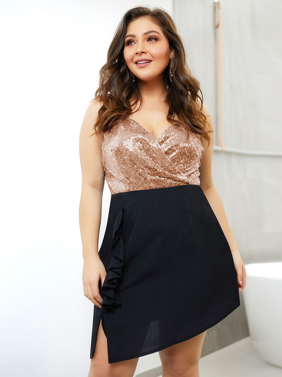 Sequin and Chiffon Club Dress