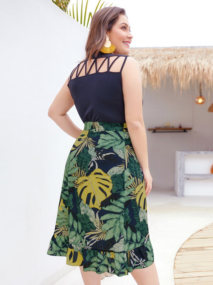 Sleeveless Knit Casual Dress