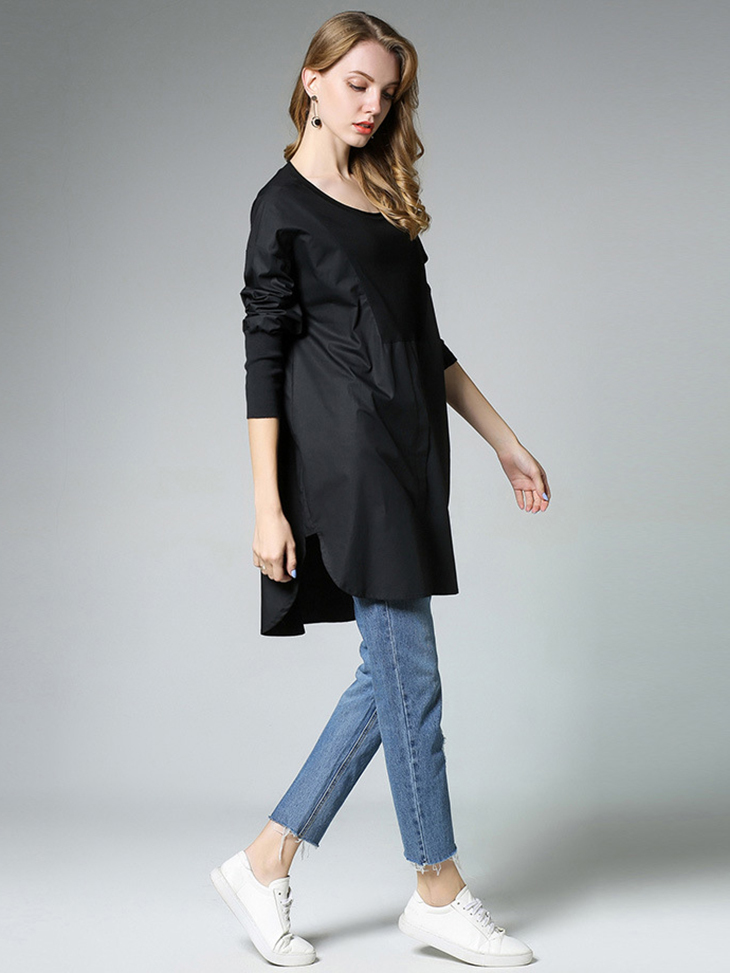 Tunic Top with Big Shirt Styling