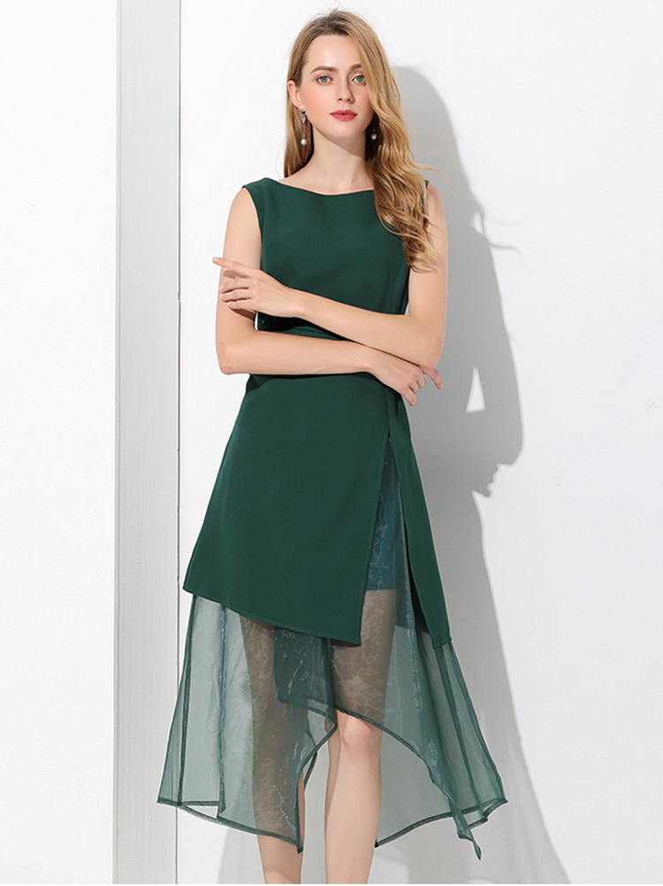 Formal Dress in Polyester and Organza