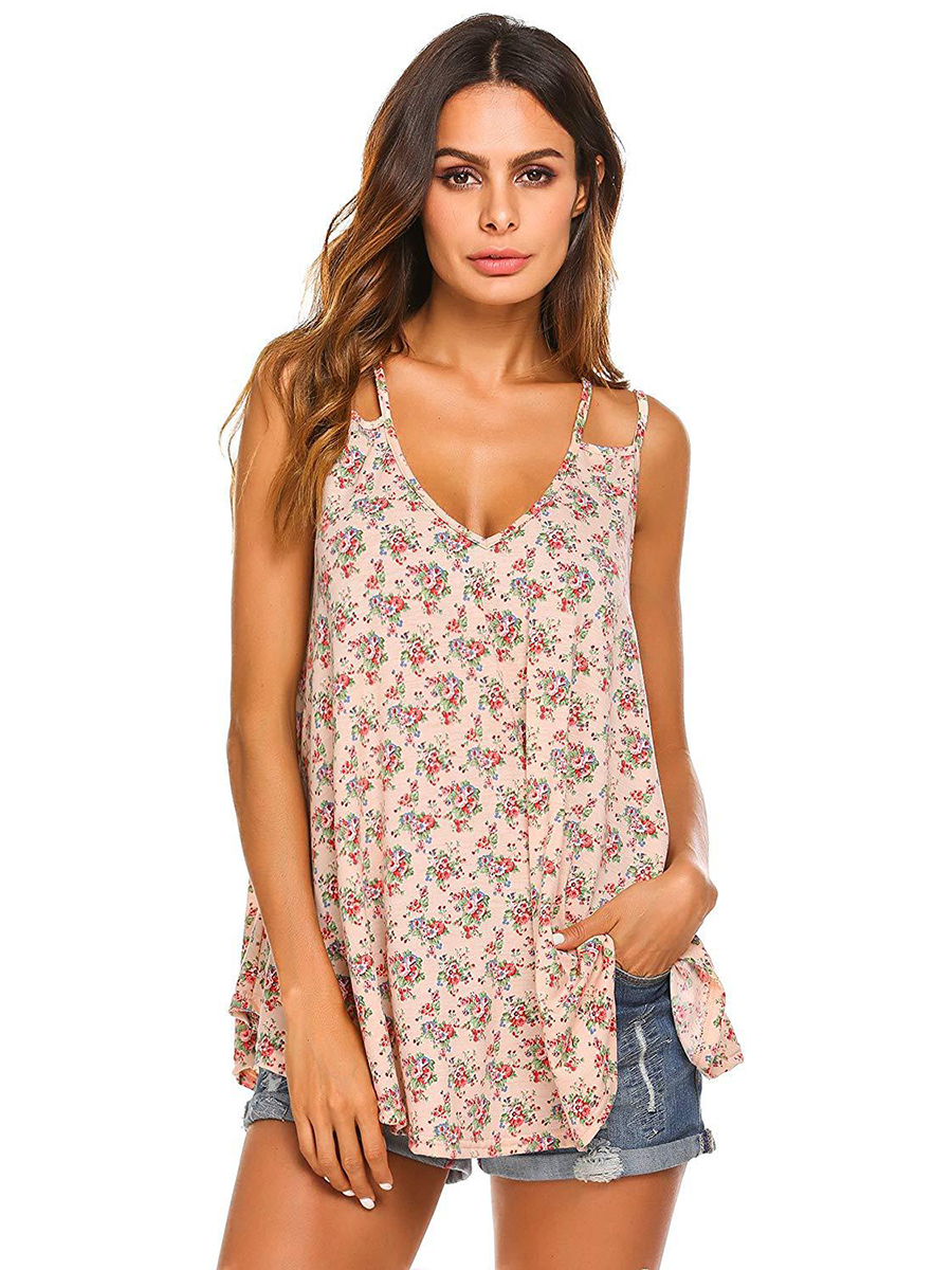 Loose Tunic Top with Double Shoulder Straps