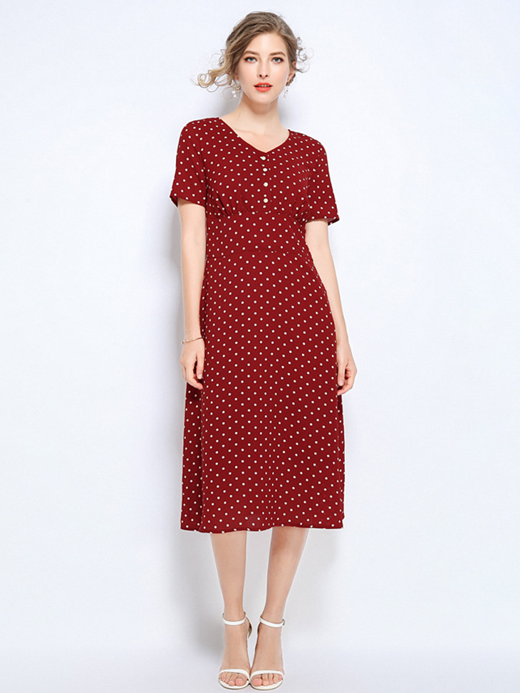 Work Dress with Short Sleeves