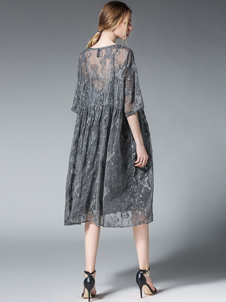 Loose Casual Dress in Lace