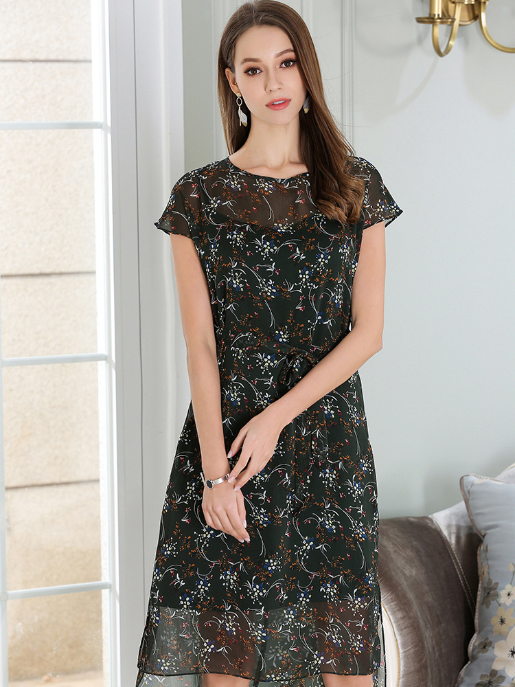 Fitted Chiffon Cocktail Dress