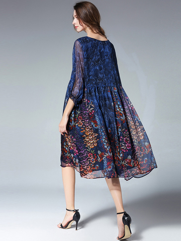 Loose Chiffon Casual Dress