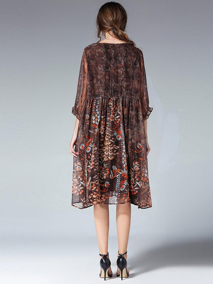Loose Chiffon Casual Dress