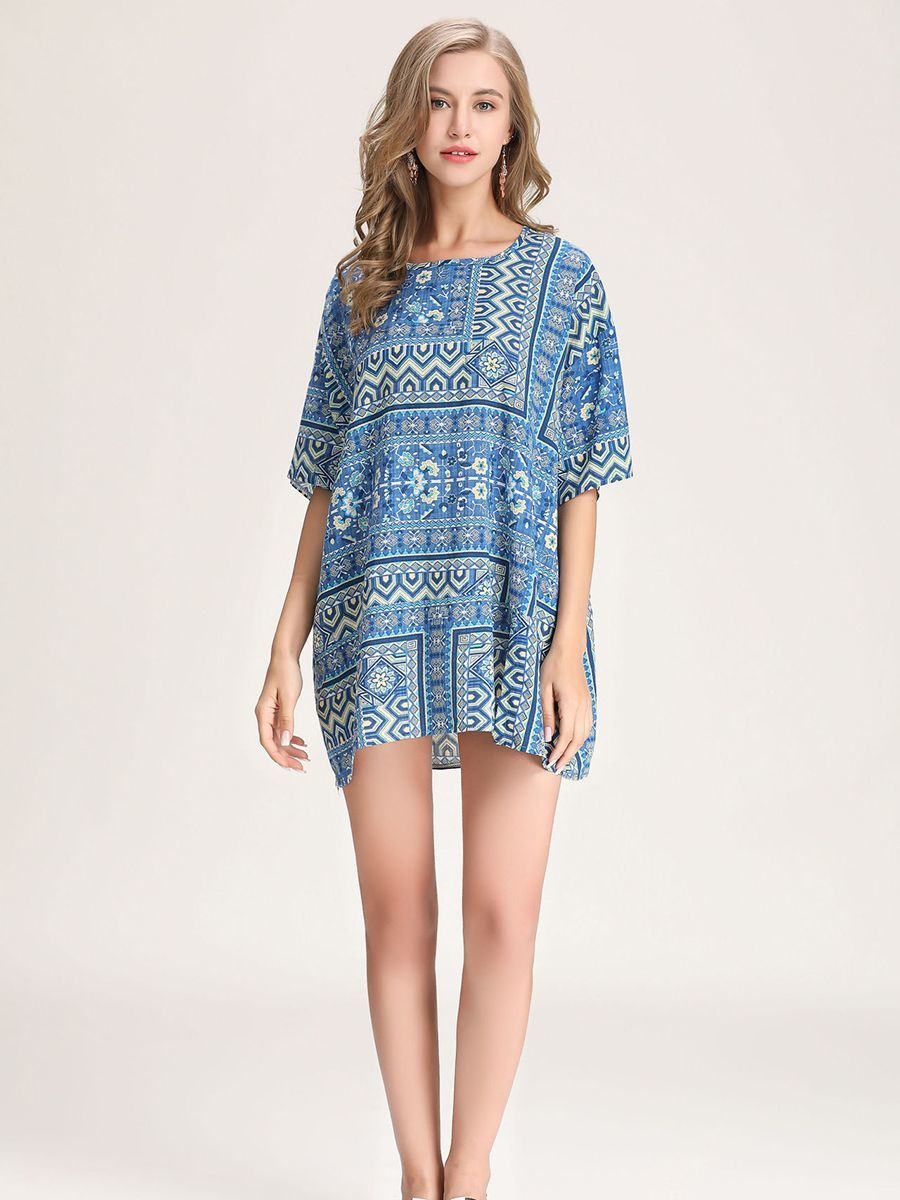 Rayon Print Tunic Top