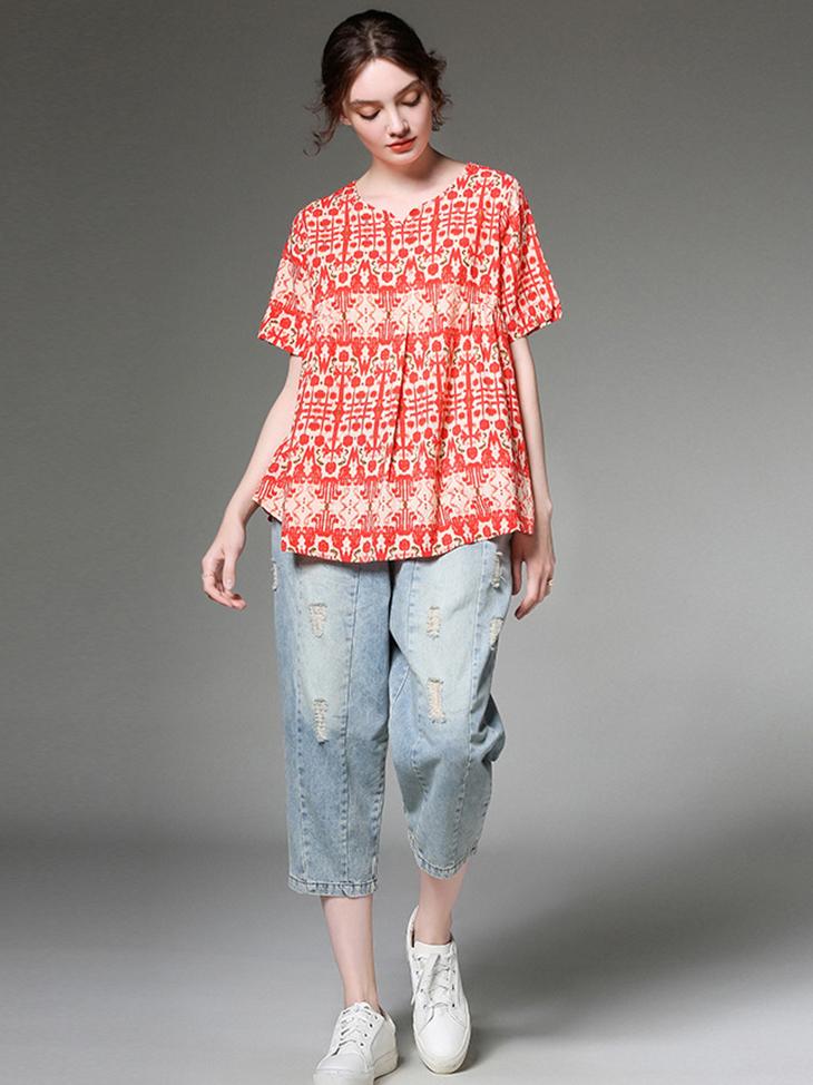 Cotton and Linen Boho Summer Top