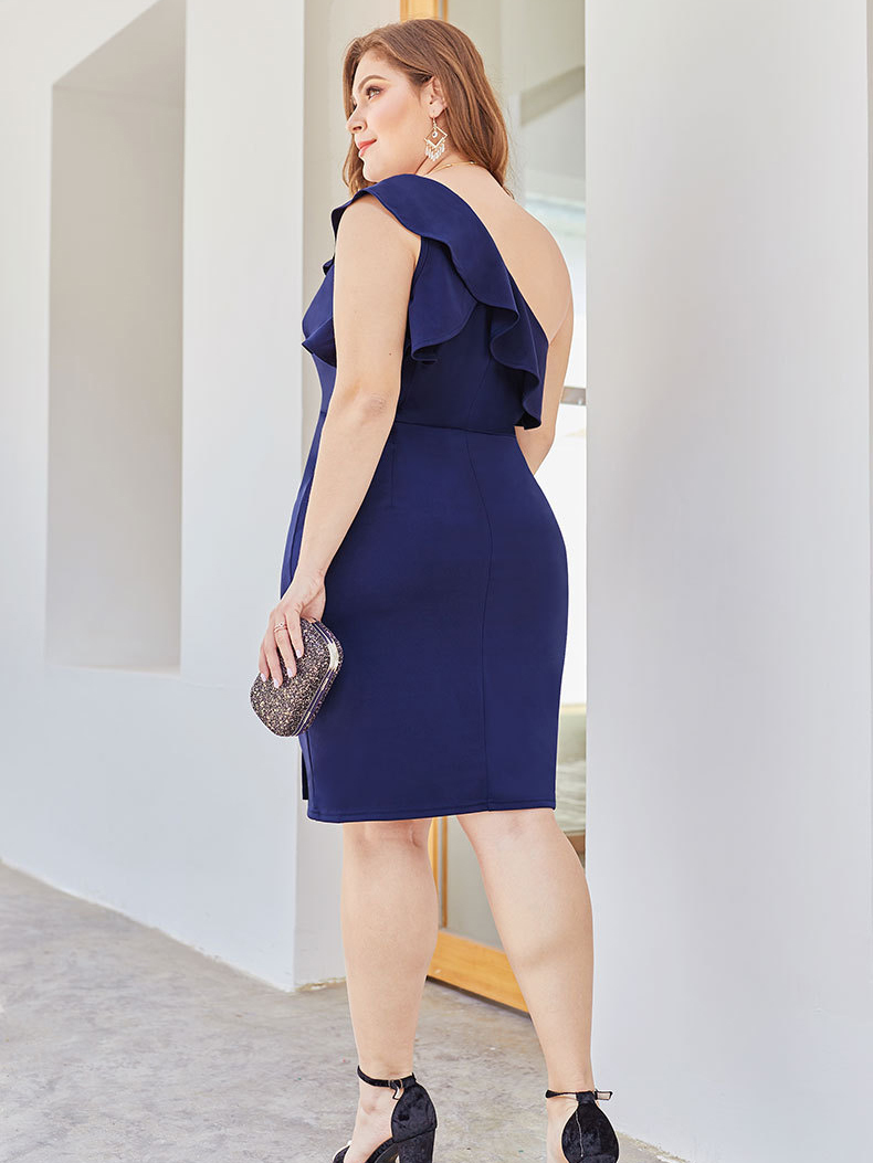 Bodycon One-Shoulder Cocktail Dress