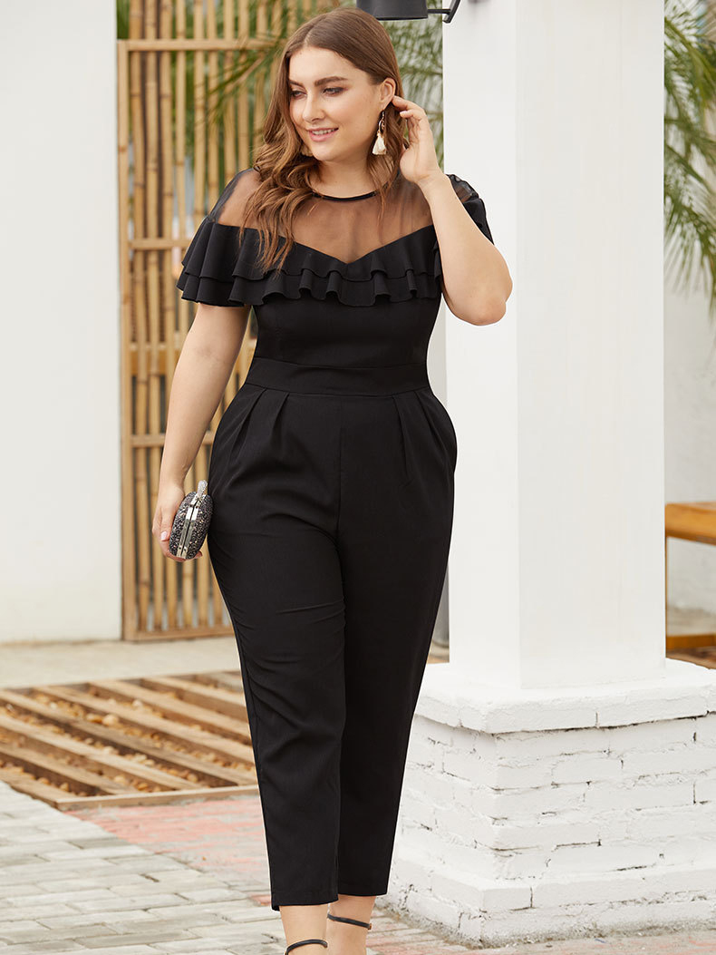 Formal Jumpsuit with Sheer Yoke