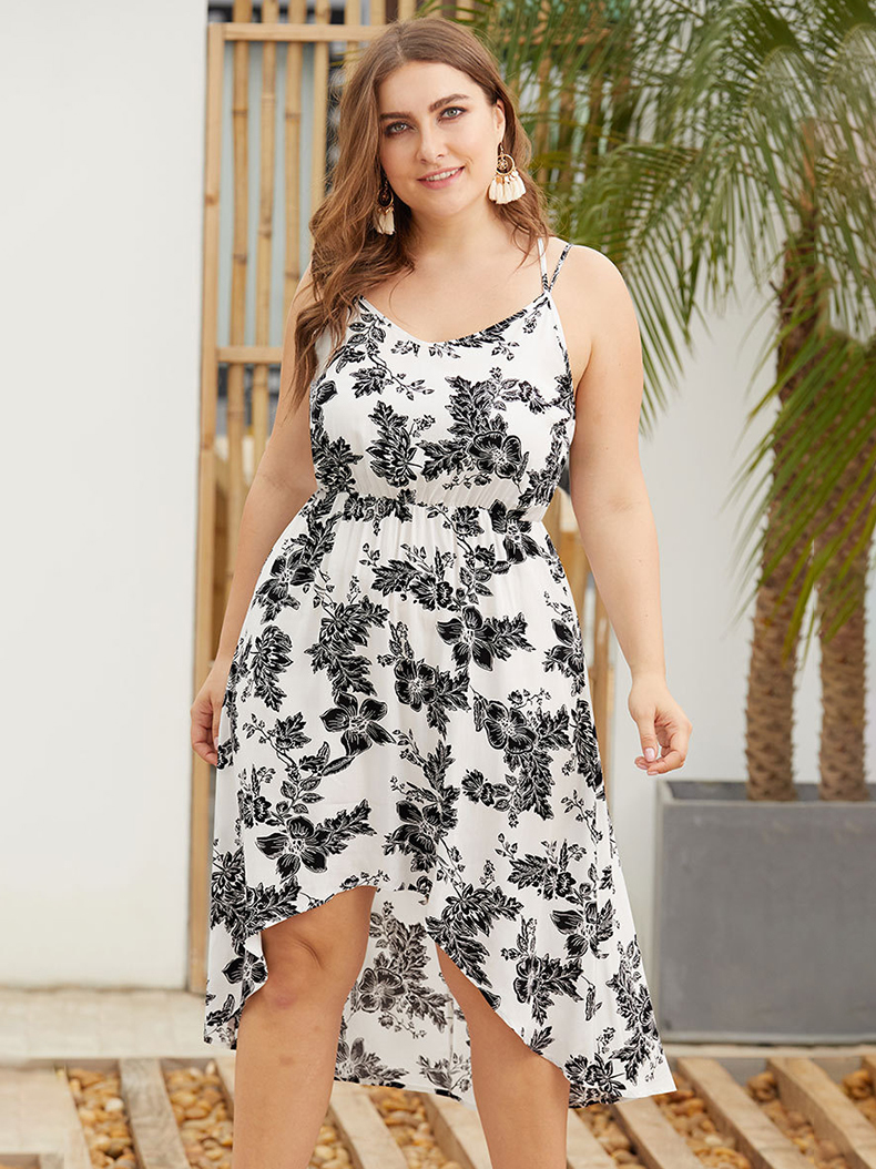 Rayon Casual Dress with Double Straps
